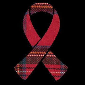 Awareness ribbon for Tartan Trailblazers : Cure Aplastic Anemia